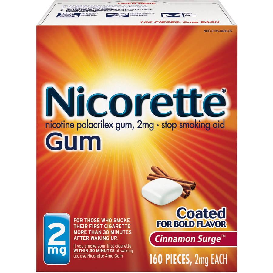 Nicorette Stop Smoking Aid Nicotine Gum, Cinnamon Surge Flavor, 2mg, 160 Pieces
