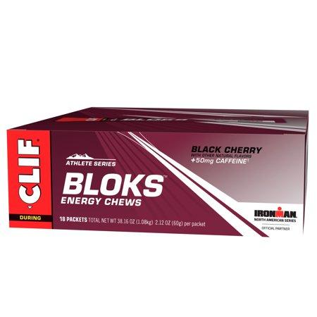 Energy Cherry - CLIF Bloks Energy Chews, Black Cherry, 18 Ct