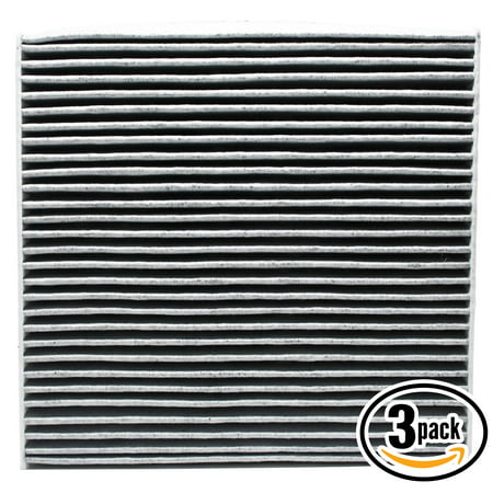 - 3-Pack Replacement Cabin Air Filter for 2015 HONDA CIVIC L4 1.8L 1799cc Car/Automotive - Activated Carbon, ACF-10134