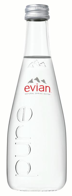 Evian Natural Spring Water, 11.1 Fl Oz, Glass, 20-Pack by Danone Waters of America