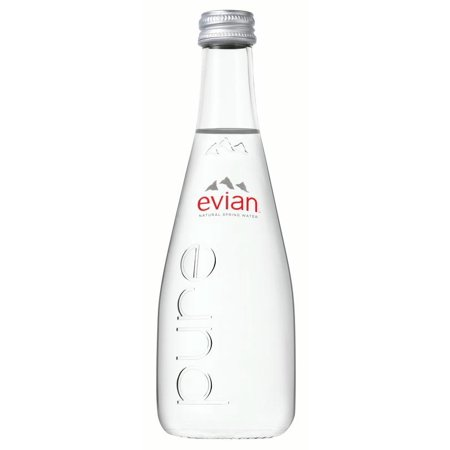 Evian Natural Spring Water  11 1 Fl Oz  20 Count