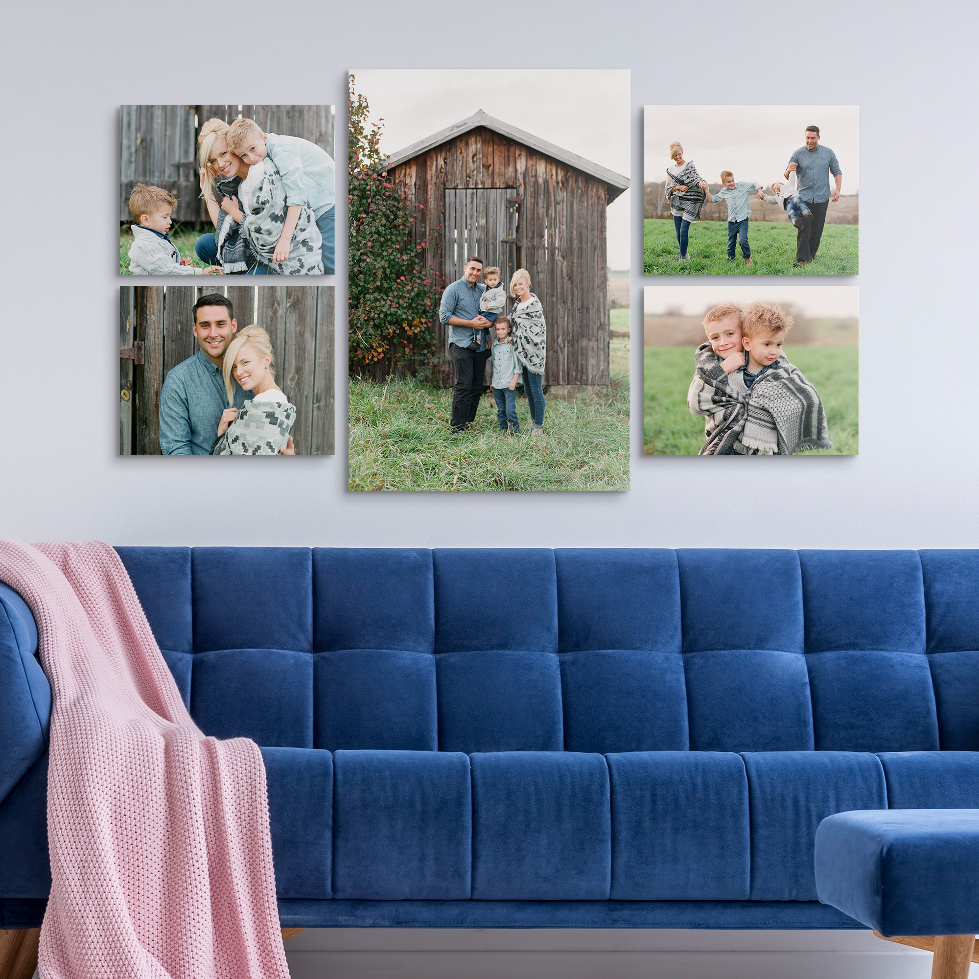 Three of a Kind Photo Canvas Gallery Wall