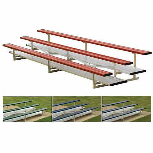 3-Row 15' Powder-Coated Bleachers by Generic