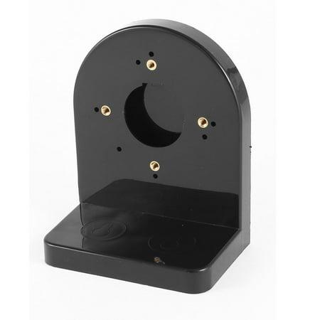 Plastic L Shaped Security Dome Camera Bracket Holder Black 5