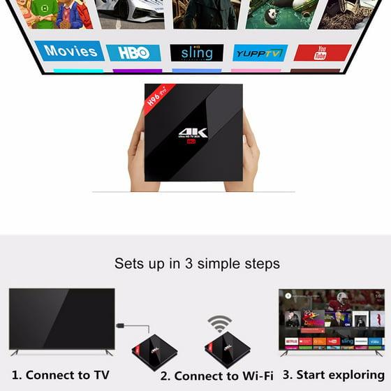H96 PRO PLUS Amlogic S912 Octa Core 3GB RAM 32GB ROM TV Box 6 0 Marshmallow  bluetooth TV Box With Mini Wireless Keyboard
