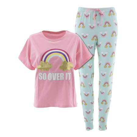 PJ Couture Womens So Over It Pink Pajamas