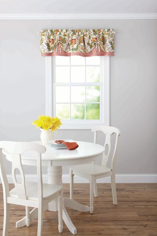 Better Homes and Gardens Gingham and Blooms Valance by Keeco