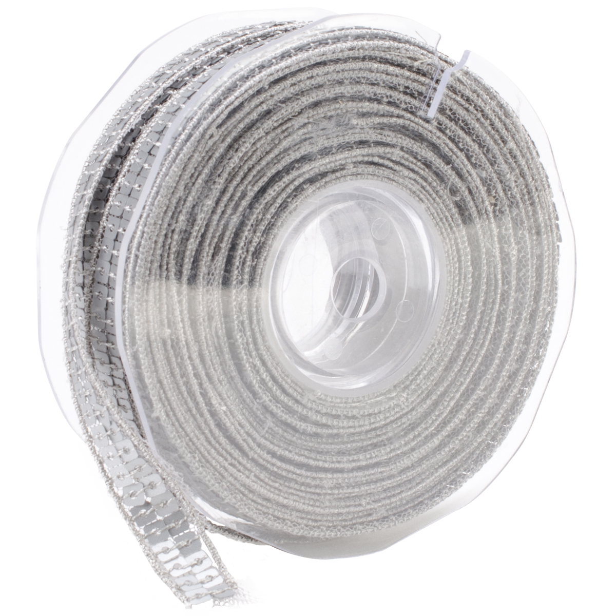 Square Sequin Trim 10mm X 15.95 Yards-Matte Silver