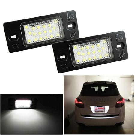 Xotic Tech 1 Set White Exact Fit LED License Plate Light Lamps For Porsche Cayenne VW Touareg Passat Golf Audi