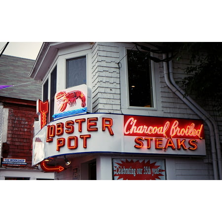 Canvas Print Fish Steak House Dinner Lobster Seafood Restaurant Stretched Canvas 32 x 24