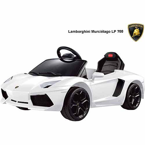 Rastar Lamborghini Aventador LP700-4 6-Volt Battery-Powered Ride-On, White