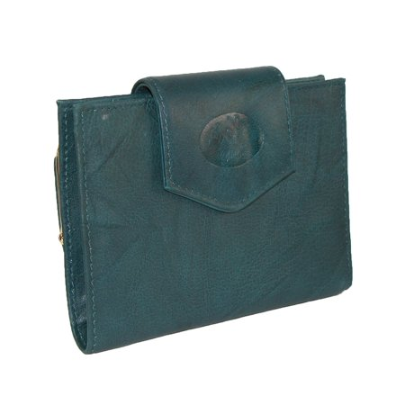 Mahogany Womens Wallet (Women's Leather Attache Clutch Cardex Wallet and Coin Purse)