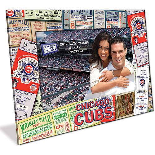 4X6 Picture Frame - Chicago Cubs Chicago Cubs TFPFBBCHIC