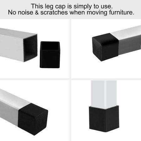 """Chair Table Leg Caps End Tip Home Furniture Protector 1""""x1"""" (25x25mm) - image 2 de 7"""