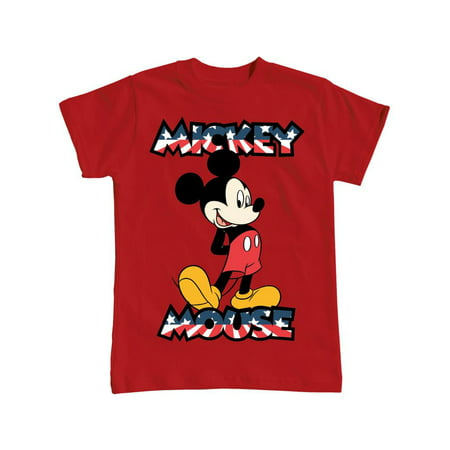 Disney Youth USA Flag Mickey Mouse X-Small Tee