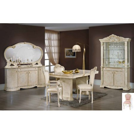 1PerfectChoice Italian Beige Dining Set With Table Armchairs Chairs