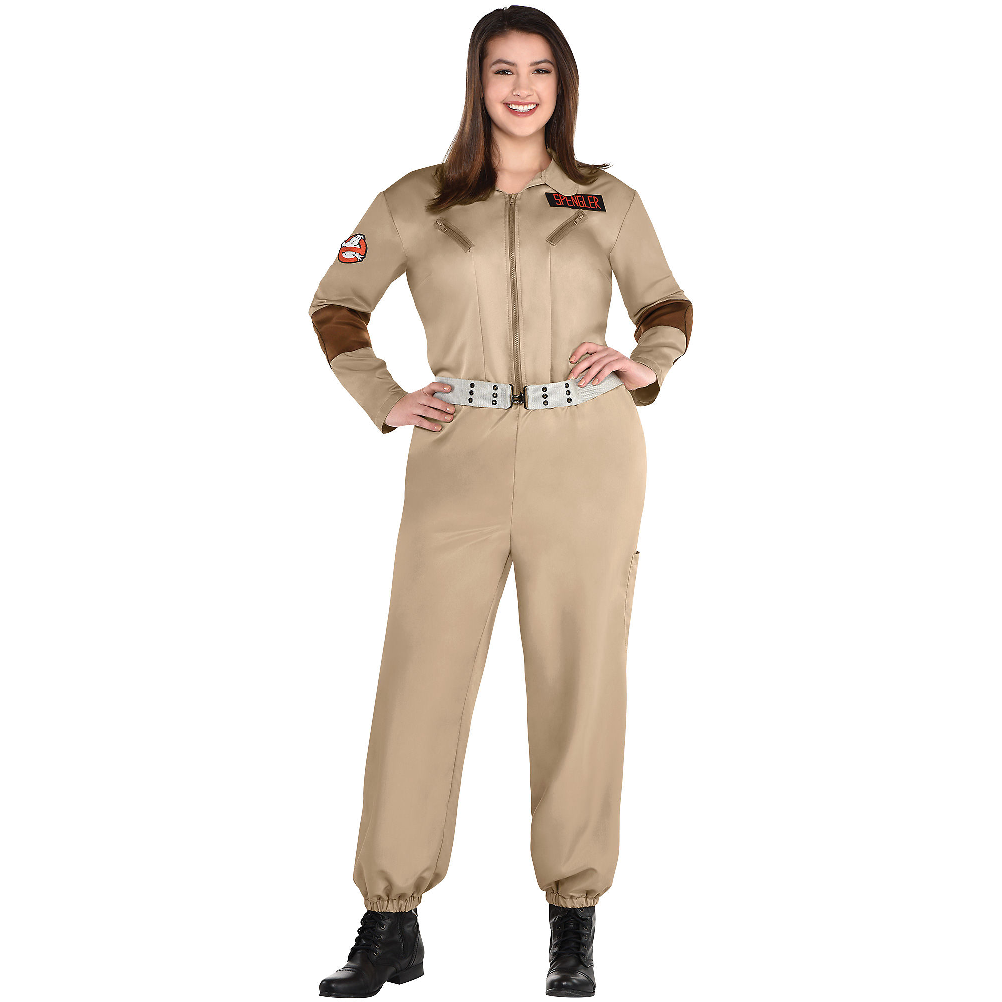 Party City Classic Ghostbusters Halloween Costume for Women, Plus Size,  with Badges