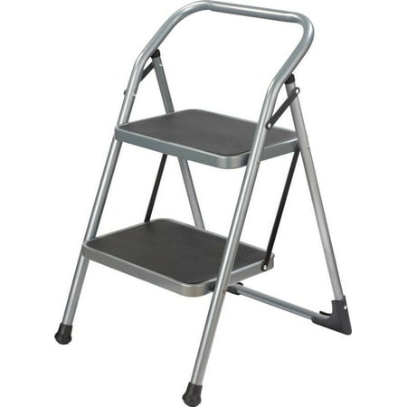 Miraculous Simple Spaces Folding Type 3 Step Stool 2 Steps 200 Lb Steel Powder Coated Gray Inzonedesignstudio Interior Chair Design Inzonedesignstudiocom