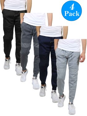 Galaxy By Harvic Men's Slim-Fit Fleece Moto Joggers (4-Pack, S-2XL)
