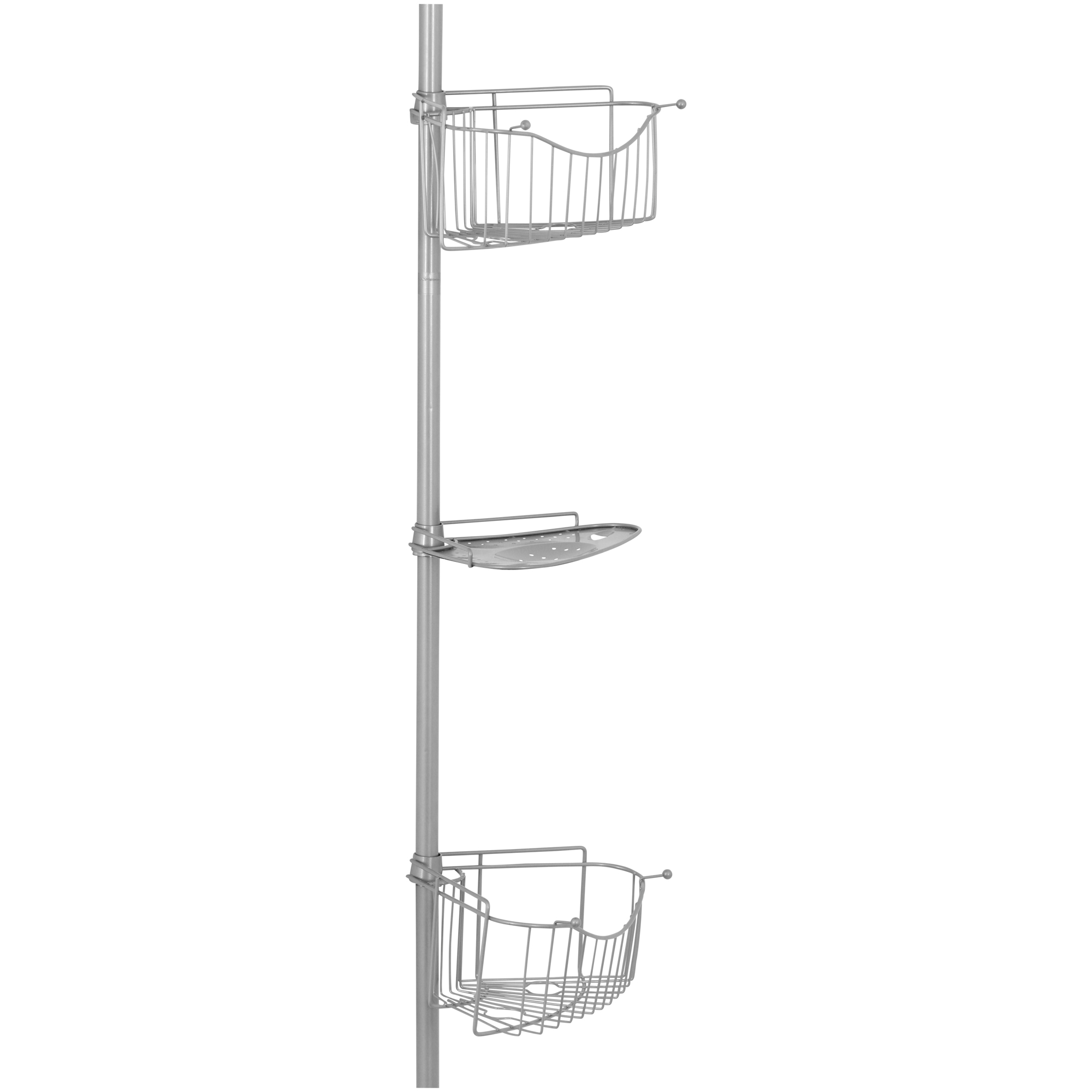 Chapter Tension Pole Shower Caddy, Satin Nickel