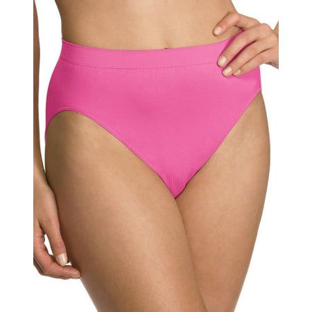 Bali Comfort Revolution Women`s Microfiber Seamless Hi Cut Panty - Best-Seller,
