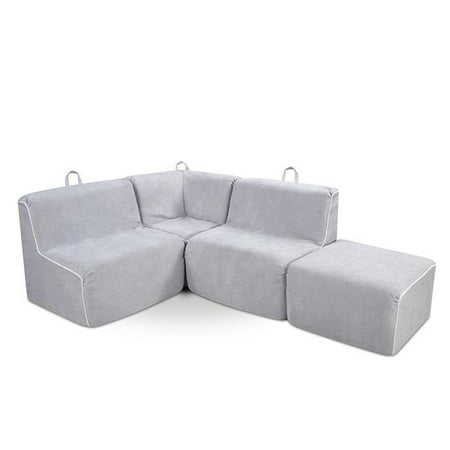Kangaroo Trading Kids 4 Piece Upholstered Sectional Sofa
