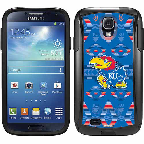 University of Kansas Tribal Design on OtterBox Commuter Series Case for Samsung Galaxy S4