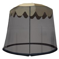 JB5678 Outdoor 9-Foot Umbrella Table Screen, Black, Shape: Round By IdeaWorks