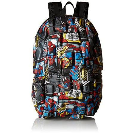 - Marvel Spiderman Comic Strip Backpack, Multi/Black