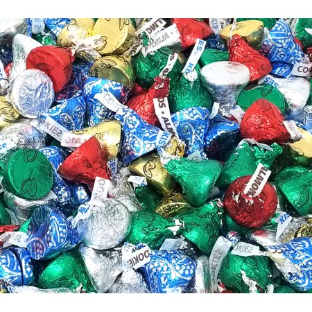 Hershey's Kisses Holiday, Chocolate Assortment Candy, Bulk (Pack of 1 Pound) - Holiday Hershey Kisses
