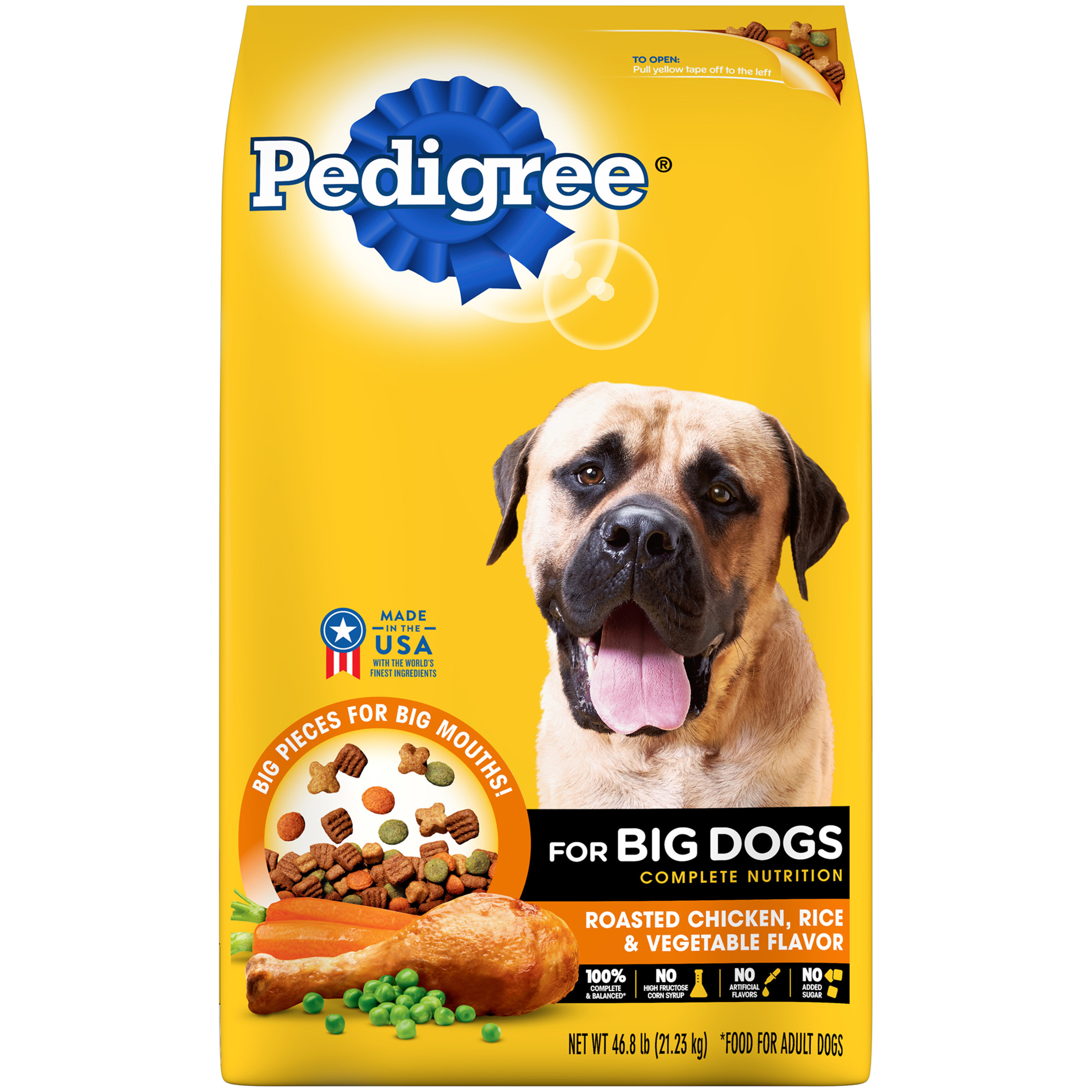 Pedigree for Big Dogs Adult Complete Nutrition Roasted Chicken Dry Dog Food (Various Sizes)