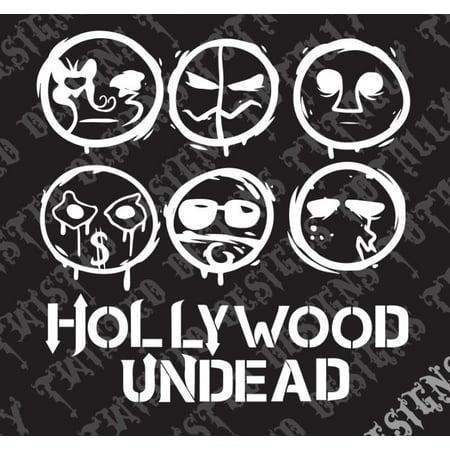 Hollywood Undead Masks car truck vinyl decal sticker Rock charlie rap hiphop