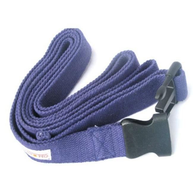 KushOasis OM133008-NavyBlue OMSutra Yoga Strap Pinch -Quick R 8 ft.  - Color - NavyBlue