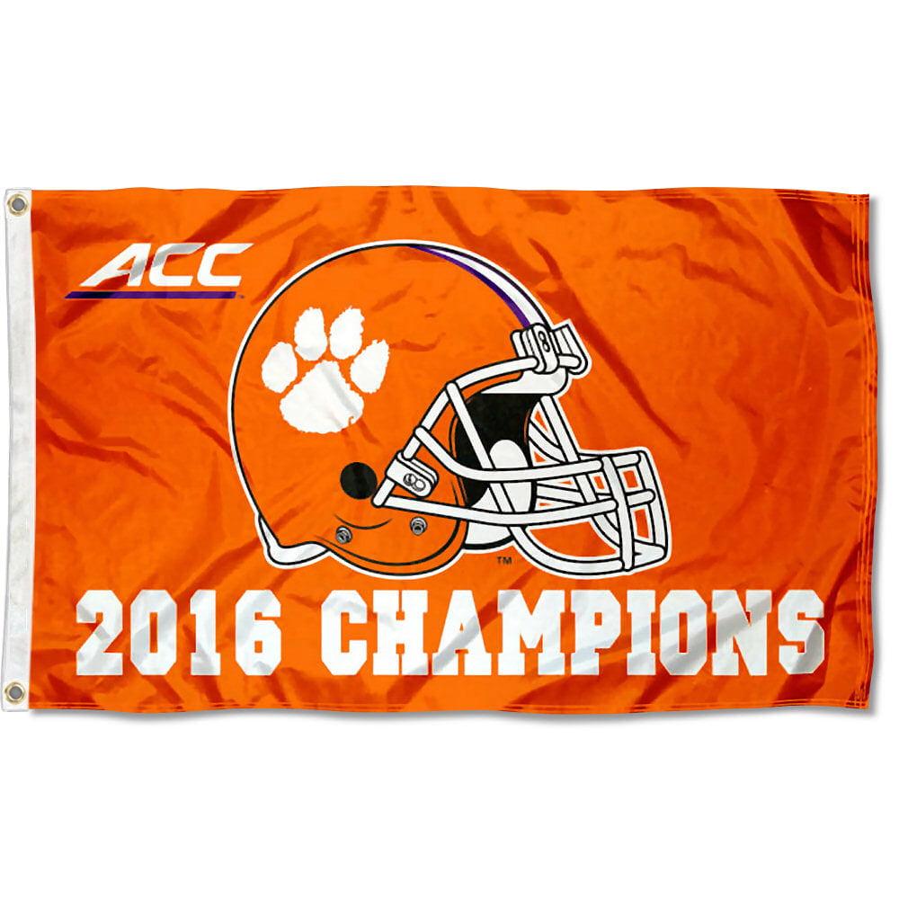 Clemson University Tigers 2016 ACC Champions 3' x 5' Flag
