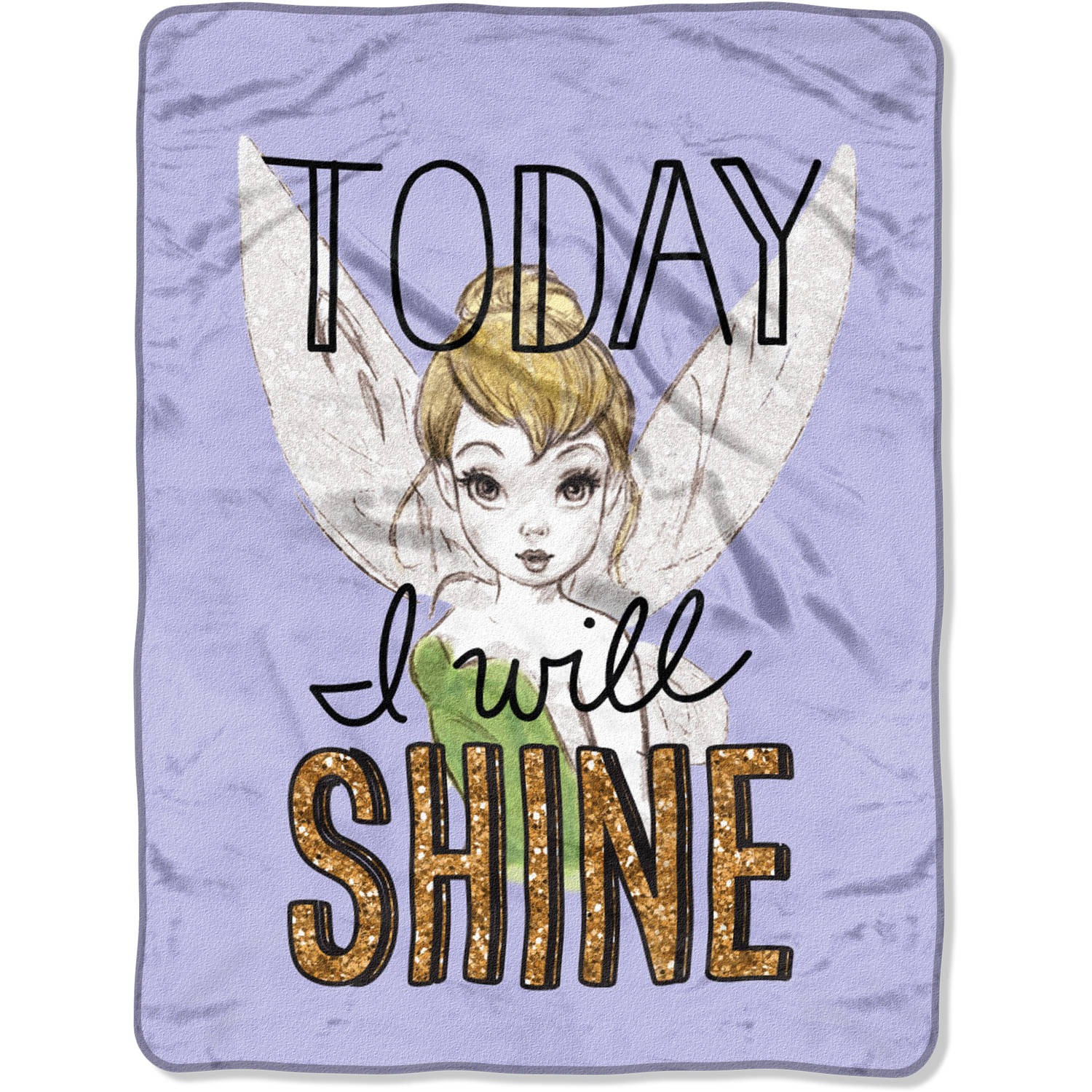 "Disney's Tinkerbell ""Shine Today"" 46"" x 60"" Micro Raschel Throw"