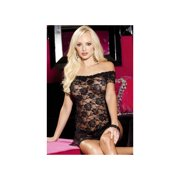 Shirley of Hollywood Black Stretch Lace Chemise & Panty 96351SH_B Black