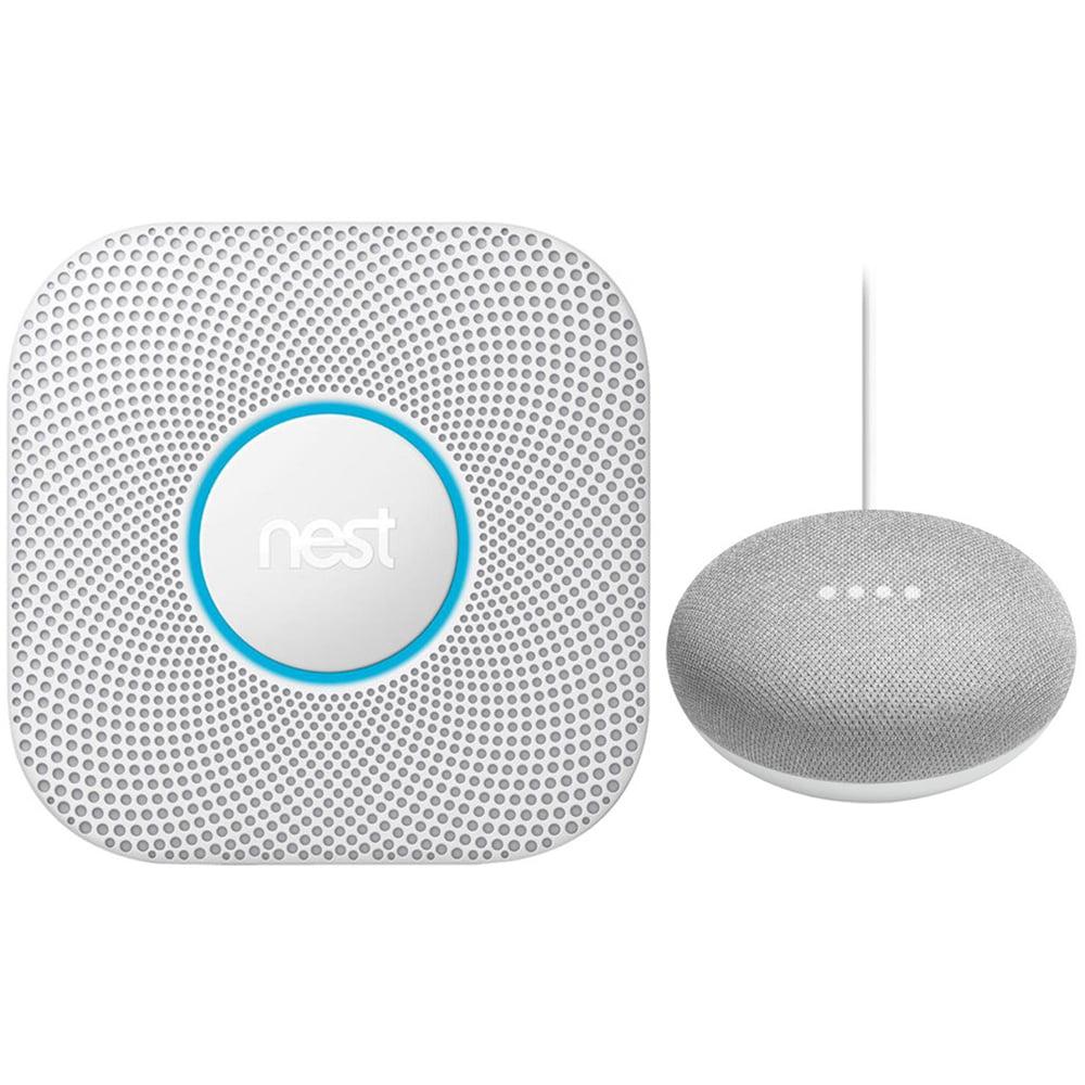 Nest Protect Wired Smoke & Carbon Monoxide Alarm White 2nd Gen. + Speaker Chalk