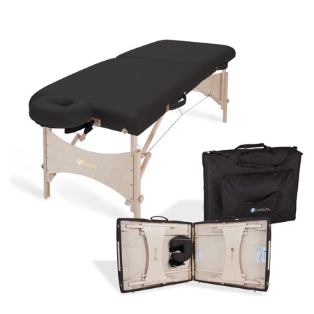 EARTHLITE Harmony DX Portable Massage Table Package \xe2\x80\x93 Deluxe Adjustable Headrest, Hard Maple, Aircraft Quality, up to 600 lbs