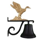 Montague Metal Products CB-1-70-GB Cast Bell With Gold Bronze Duck Ornament