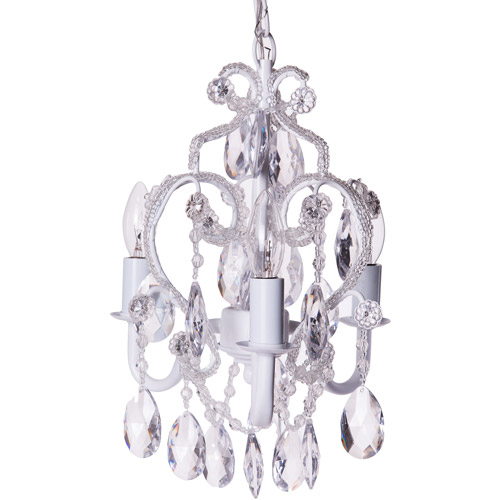 Tadpoles 3-Bulb Mini Chandelier, White Diamond