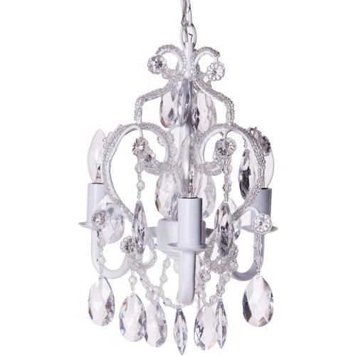 Tadpoles 3-Bulb Mini Chandelier, White Diamond