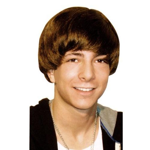 Boys Teen Star Halloween Wig Brown-One Size