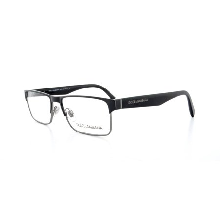 ed368f50c7e5 DOLCE   GABBANA Eyeglasses DG 1232 01 Black Gunmetal 54MM - Walmart.com