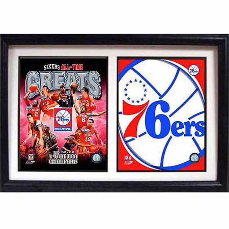 NBA Philadelphia 76ers Greats 12x18 Double Frame by