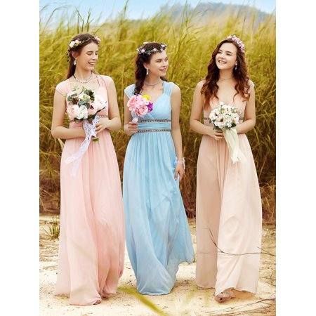 Ever-Pretty Women's Elegant Long V-neck Evening Party Maxi Dresses for Women 08697 (Aqua 4 (Aqua Print Dress)