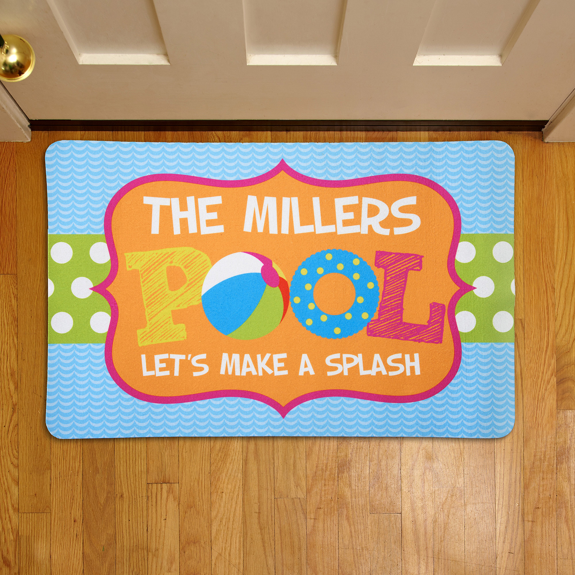 Personalized Pool Fun Doormat