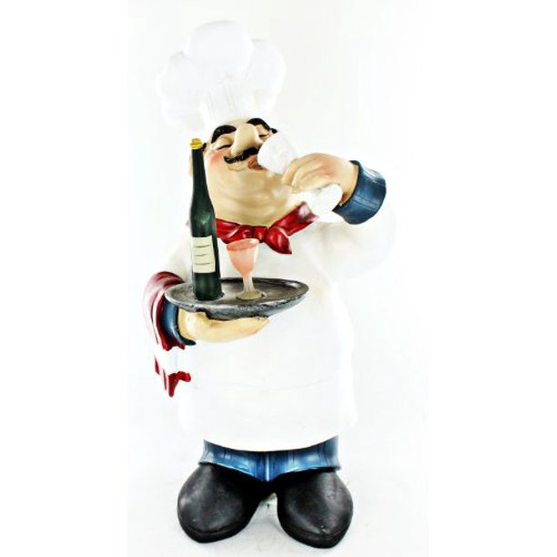 Fat Chef Kitchen Decoration Table Art Statue Bistro Cooking D64126 Walmart Com