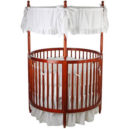 Dream On Me Sophia Posh Circular Crib Cherry - Liberty Round Crib