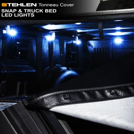 Stehlen 733469489924 Hidden Snap Tonneau Cover with Truck Bed LED Lights For 15-18 Ford F150 Super Crew ( Crew ) Cab 5.5 Feet ( 66