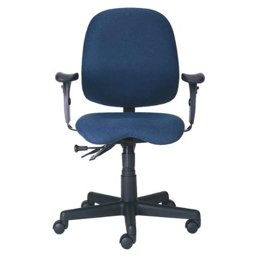Task Chair w Paddle Controls, Armrests, Swivel & Casters - Cameron (Leather)